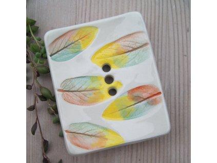 Kate Motl Mýdlenka keramická Florale menší rozměr 1 ks