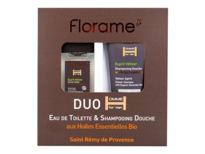 Florame Sada dárková toaletní voda 100 ml a sprchový gel 200 ml pro muže Esprit Vetiver BIO