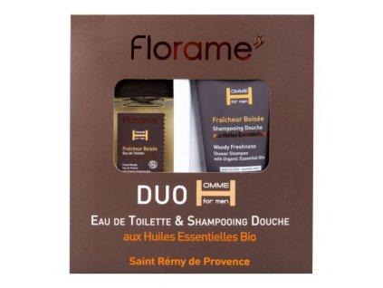 Florame Sada dárková toaletní voda 100 ml a sprchový gel 200 ml pro muže Fraicheur boisée BIO