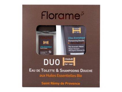 Florame Sada dárková toaletní voda 100 ml a sprchový gel 200 ml pro muže L´eau aromatique BIO