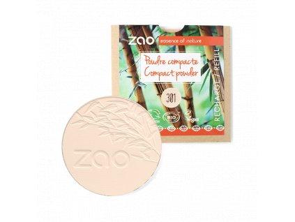 ZAO Kompaktní pudr 301 Ivory náplň 9 g