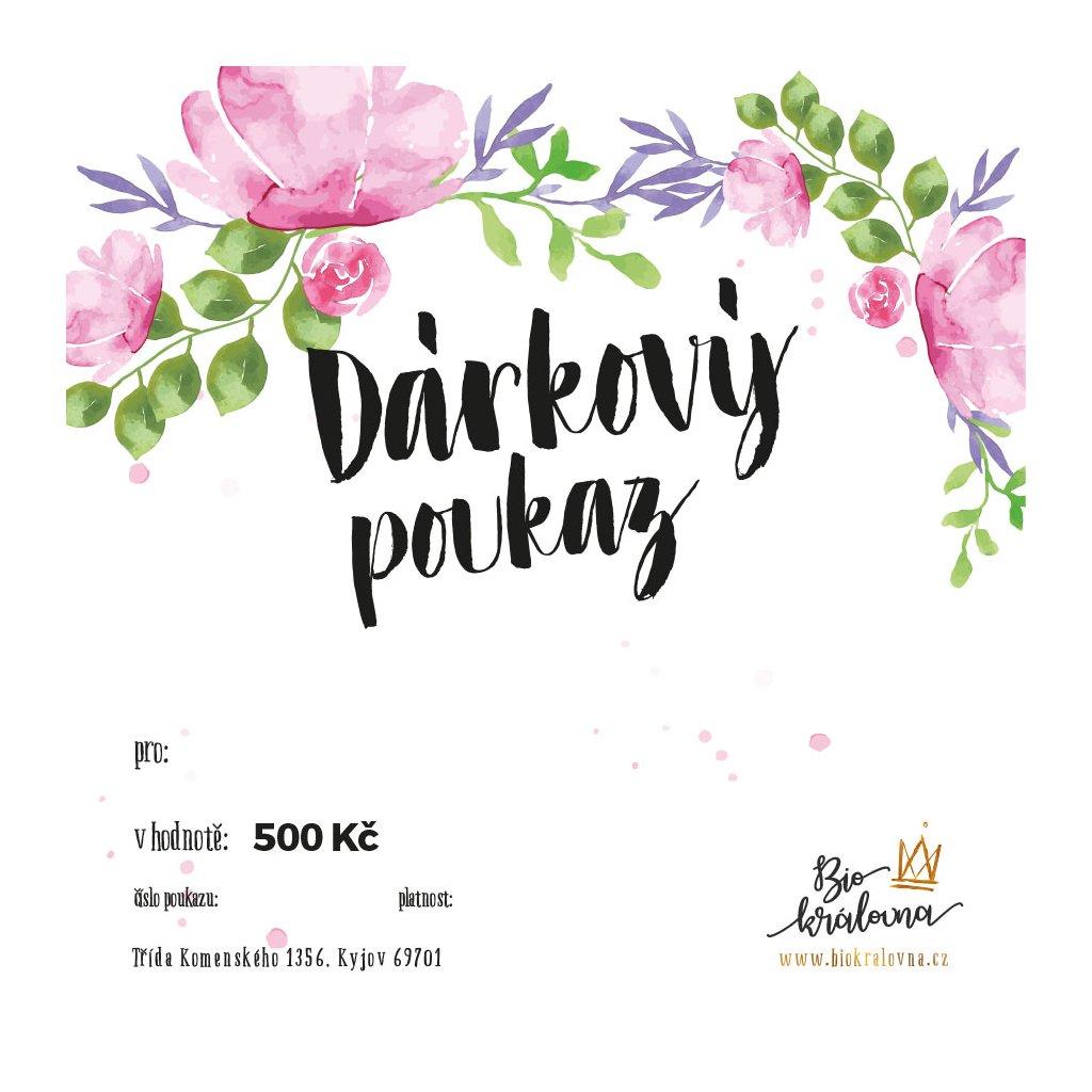 darkovy poukaz 500Kc biokralovna