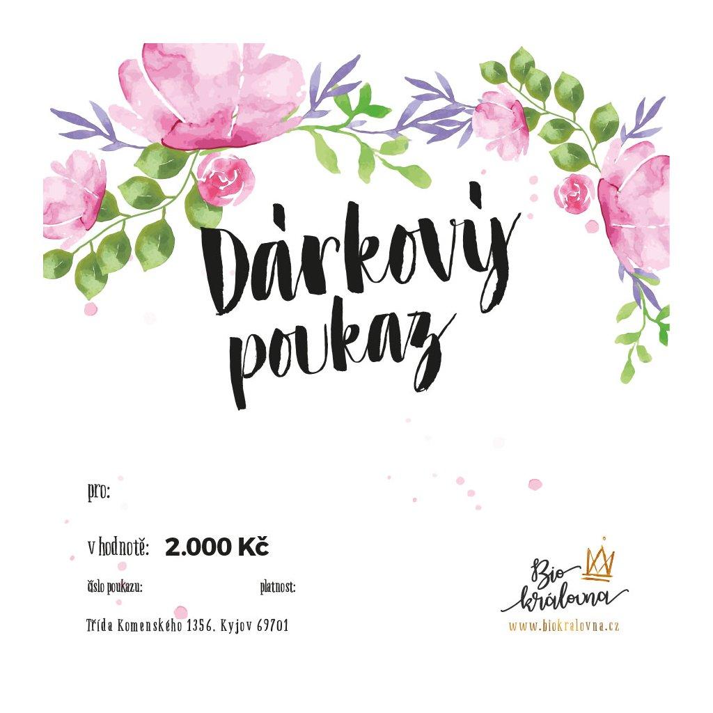 darkovy poukaz 2000Kc