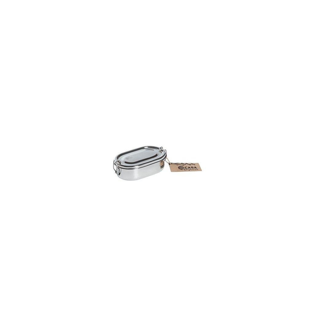 doza svacinova ovalna s klipem nerez 07830 0001 bile samo w