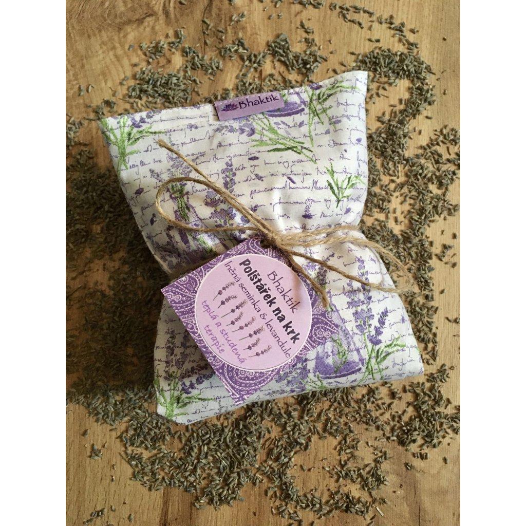 Tělový polštářek lněná semínka a levandule | BHAKTIK