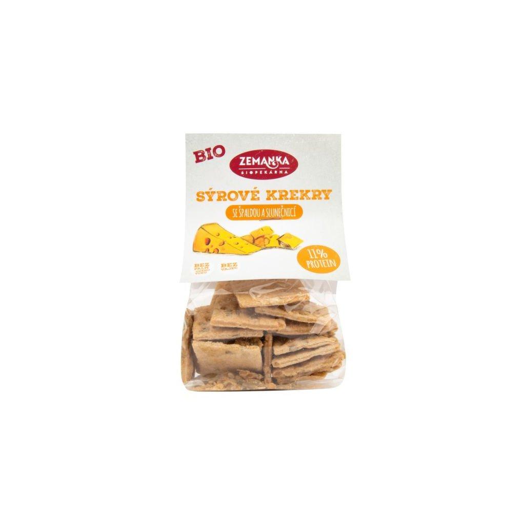 Krekry se sýrem a slunečnicí 100g Bio | ZEMANKA