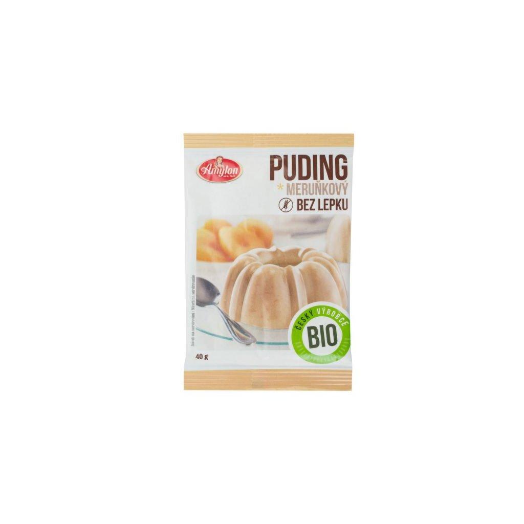 Pudink meruňkový s kousky ovoce bezlepkový 40 g BIO | AMYLON