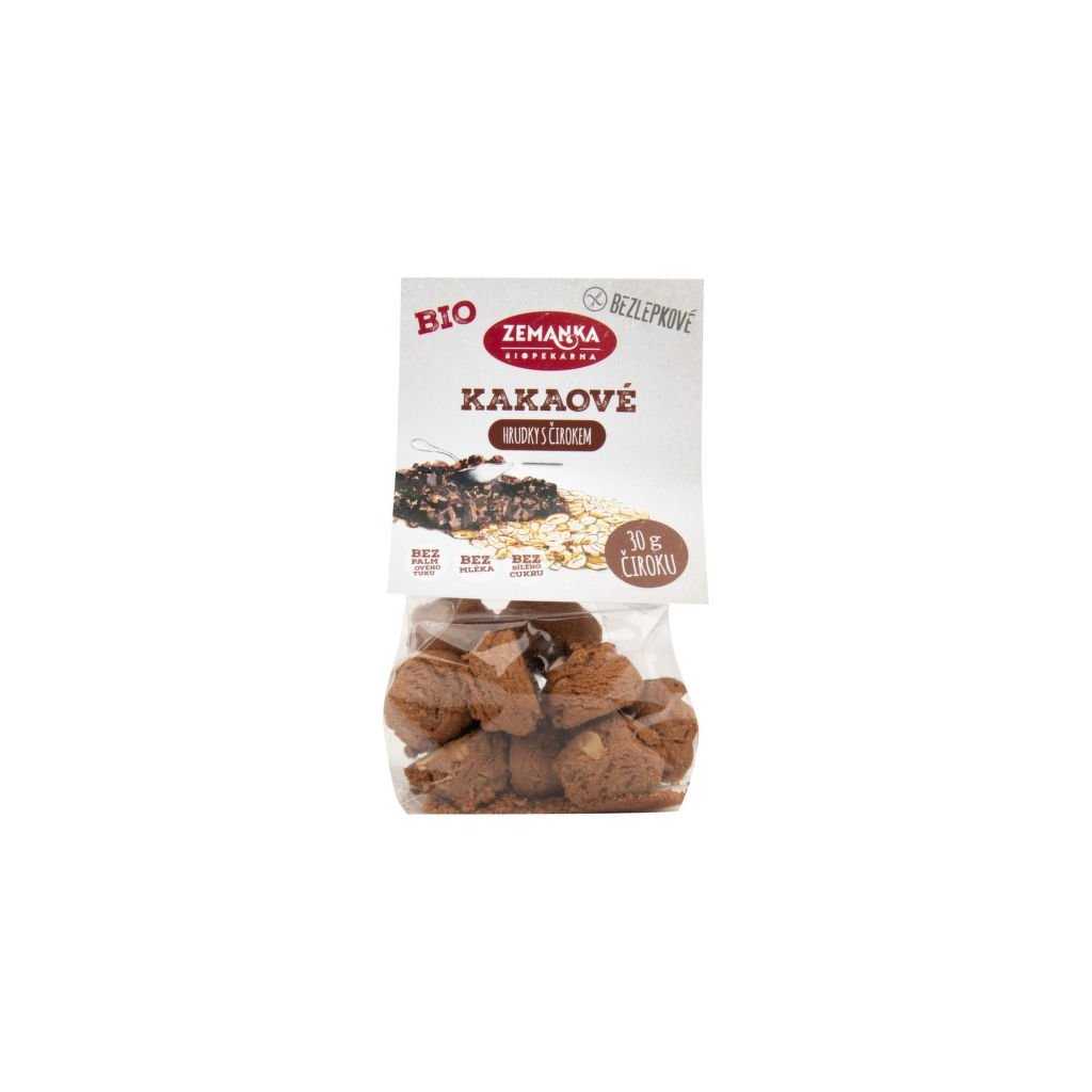 Sušenky čirokovo - vločkové s kakaem bezlepkové 100 g BIO ZEMANKA