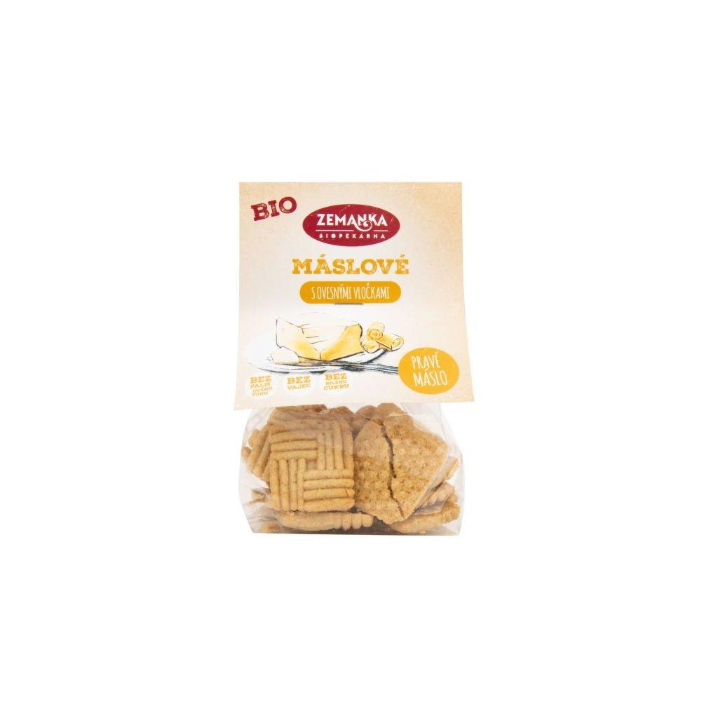 Máslové sušenky s ovesnými vločkami   BIO ZEMANKA