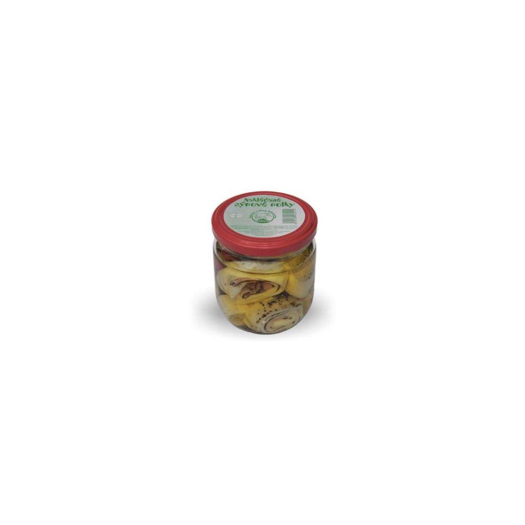 nakladane syrove rolky se slaninou 350g ve skle