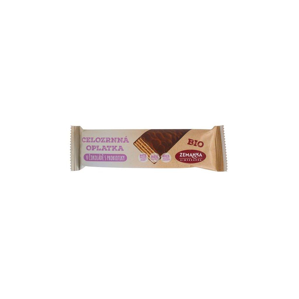 Bio celozrnná oplatka zjednozrnky v čokoládě