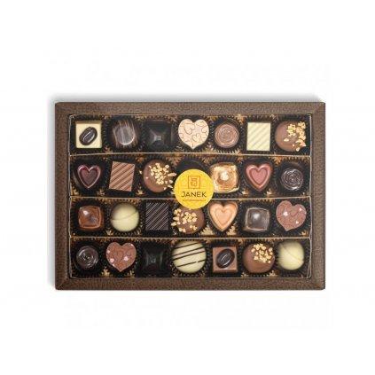 302 2 krabicka 28 ks cokoladovych pralinek v obale cokoladovna janek jpg