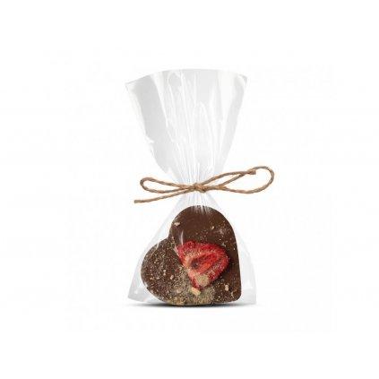155 mlecne cokoladove srdicko s jahodou a bananem cokoladovna janek