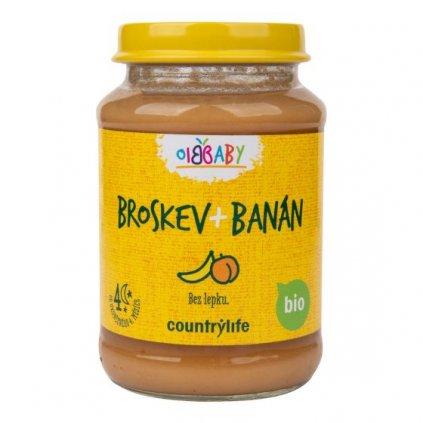 Příkrm broskev, banán 190g | COUNTRY LIFE