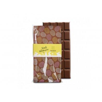 476 tabulka mlecne cokolady s velikonocnim potiskem cokoladovna janek