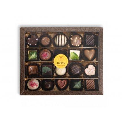 299 2 krabicka 20 ks cokoladovych pralinek v obale cokoladovna janek jpg