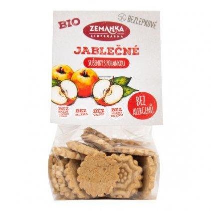 Sušenky pohankovo - jablečné bezlepkové 100 g BIO ZEMANKA