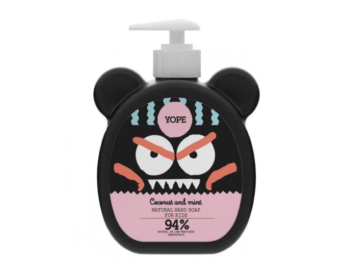 Yope Tekuté mýdlo na ruce pro děti s kokosem a mátou (400 ml)