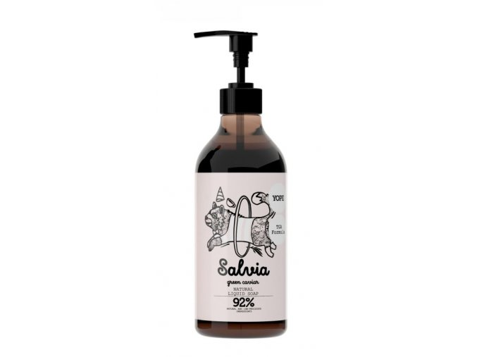 Yope Tekuté koupelnové mýdlo s TGA formulí - šalvěj a zelený kaviár (500 ml)