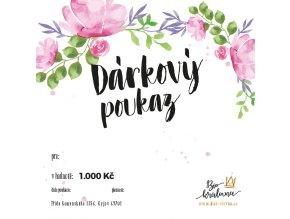 darkovy poukaz 1000Kc biokralovna