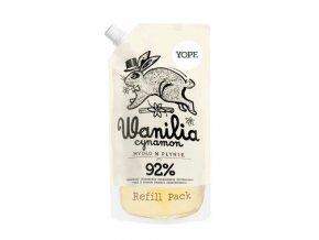Yope Tekuté koupelnové mýdlo - vanilka a skořice (náplň 500 ml)