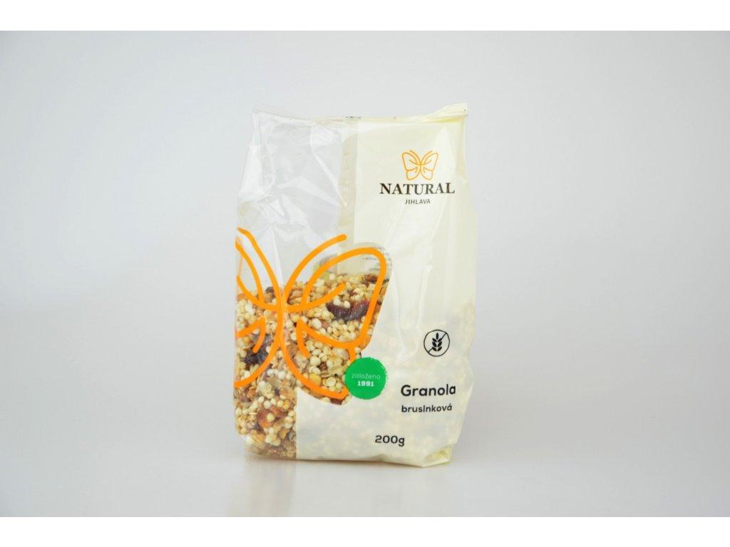 1124 1 granola brusinkova bezlepkova 200g natural jihlava