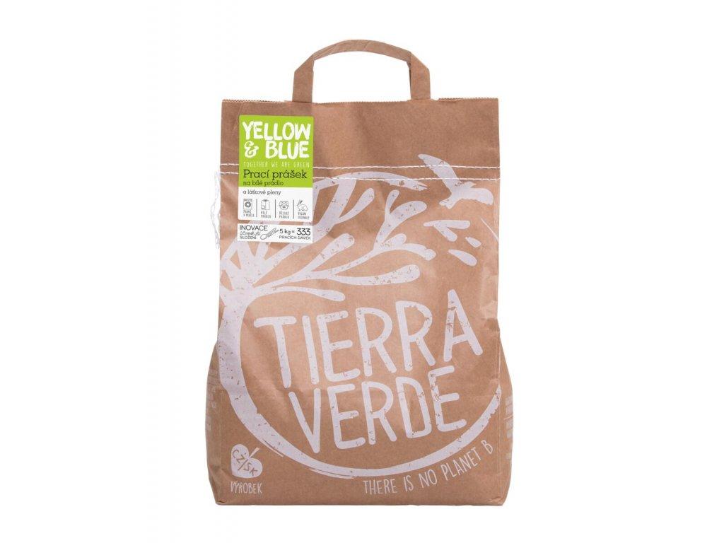 Prací prášek z mýdlových ořechů na bílé prádlo a látkové pleny 5kg, Tierra Verde