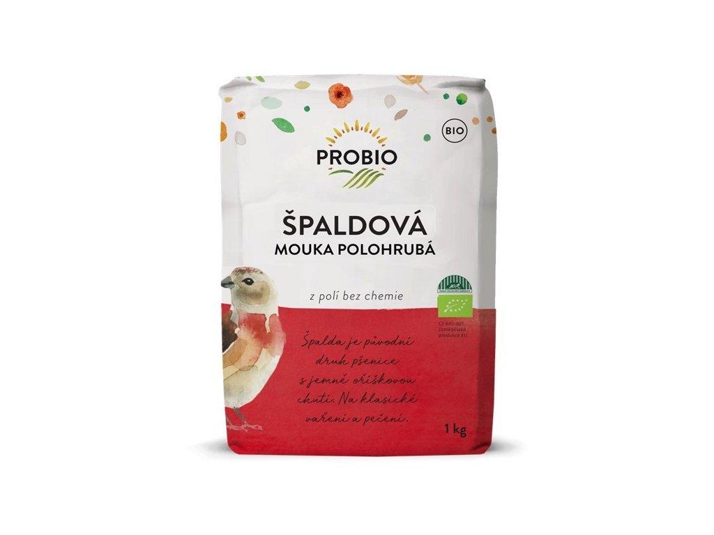 Mouka špaldová bílá polohrubá BIO 1kg, Probio