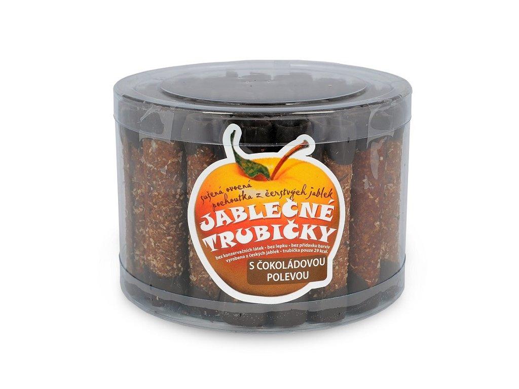 494 1 jablecna trubicka s cokoladovou polevou doza 450g 45ks bioprodukt