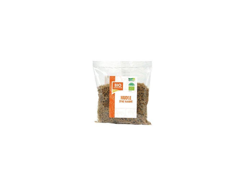 Nudle žitné celozrnné vlasové BIO 300g, Bioharmonie