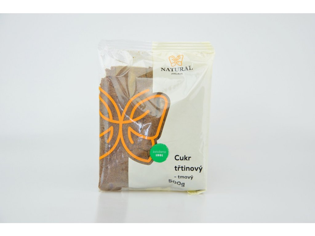 848 1 cukr trtinovy tmavy jemne mlety 500g natural jihlava
