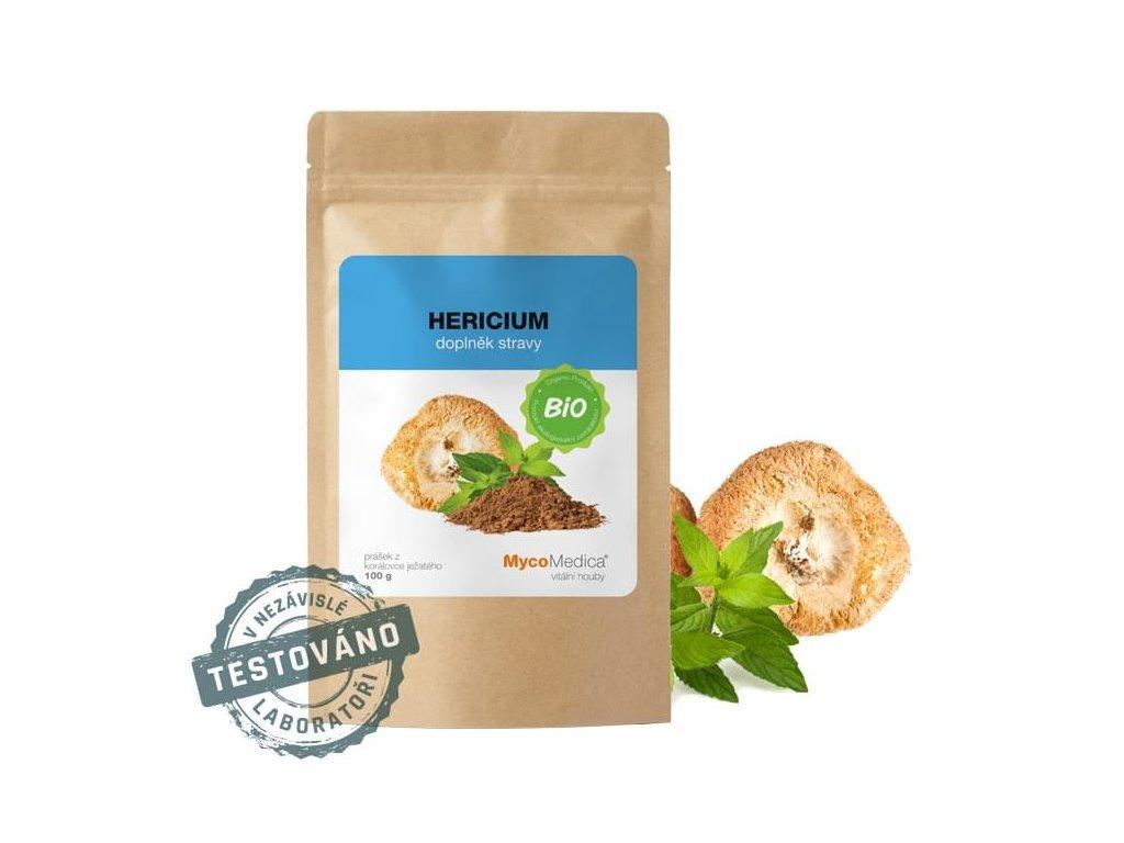bio hericium prasek mycomedica biolifeplus