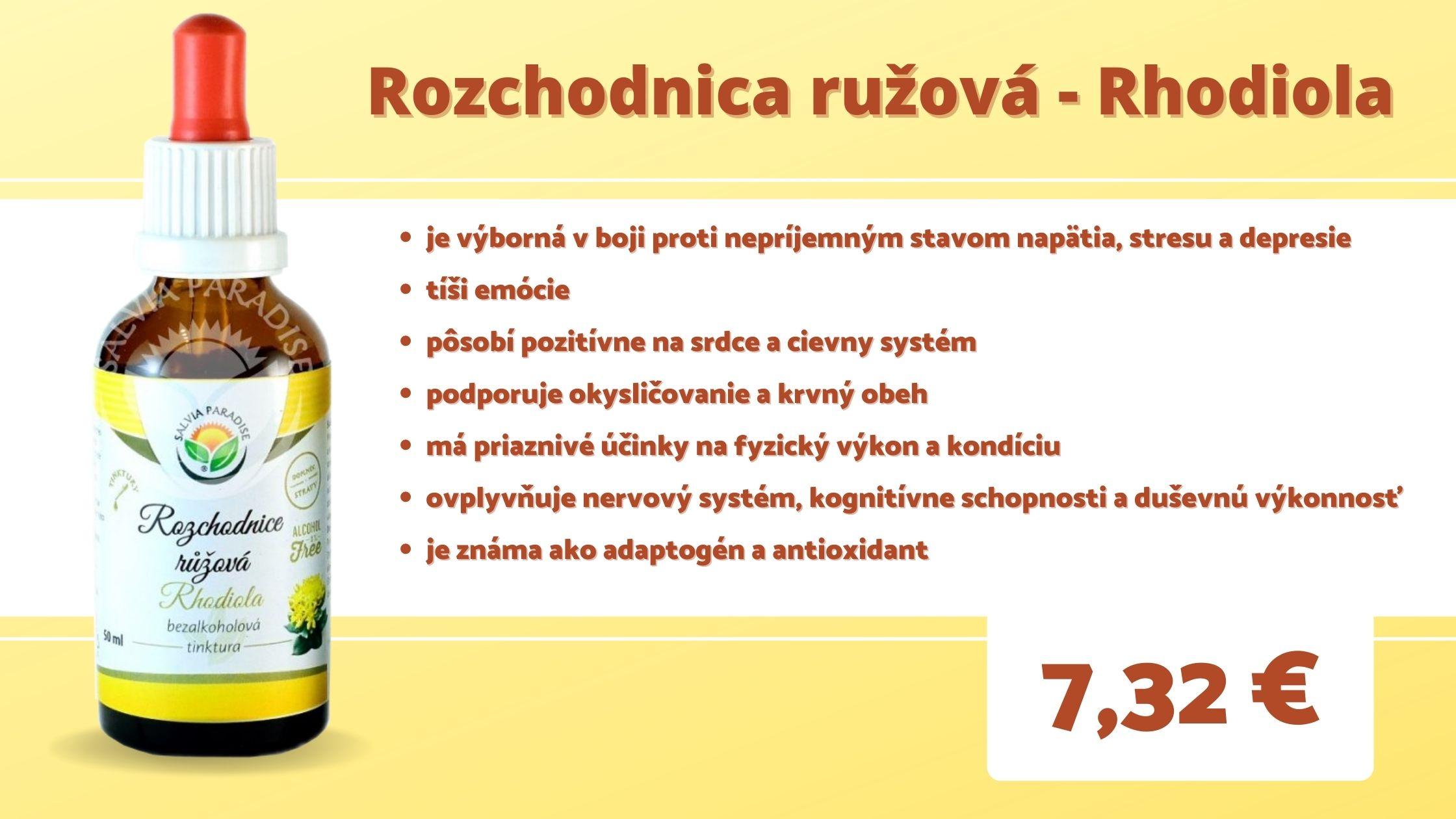 Rozchodnica ružová - Rhodiola bezalkoholová tinktúra