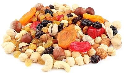 orechy, sušené plody