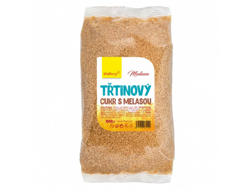 trtinovy cukr s melasou 1 kg wolfberry