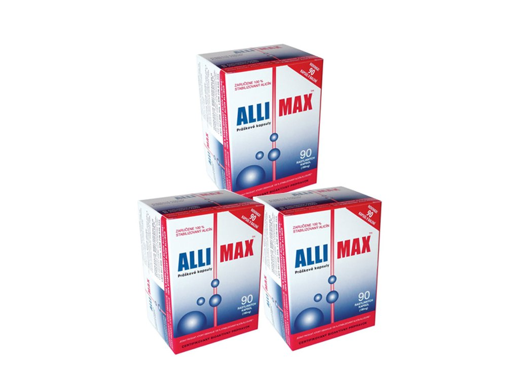 balicek 3x allimax sila cesnaku 90 kapsul biolinka