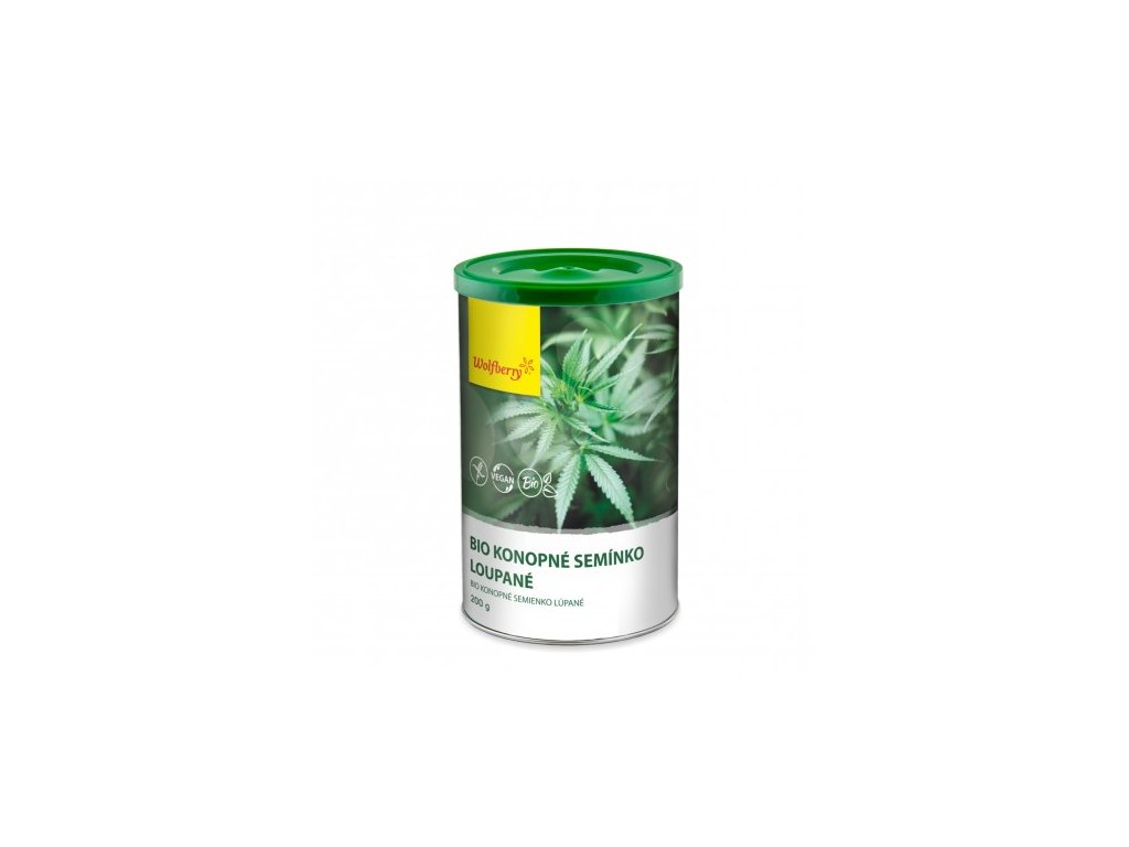 Konopné semienka lúpané bio 200 g