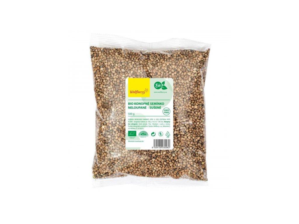 Bio konopné semienko nelúpané 500 g