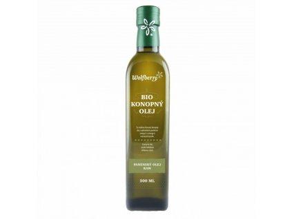 Konopný olej panenský raw 500 ml