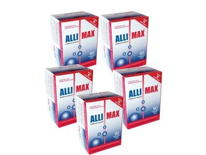 balicek 5x allimax sila cesnaku 90 kapsul biolinka