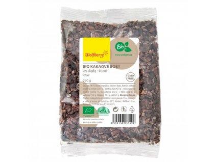Kakaové bôby bio drvené raw 250 g