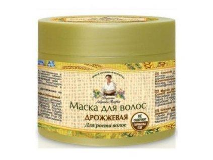 Bylinná maska na vlasy s pivovarským droždím a cedrovým olejom 300 ml