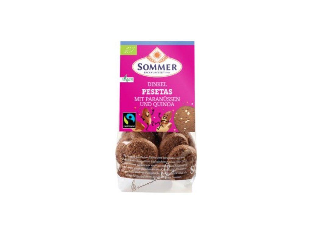 6 x Sommer&Co Bio Špaldové keksy Pesetas, 150g