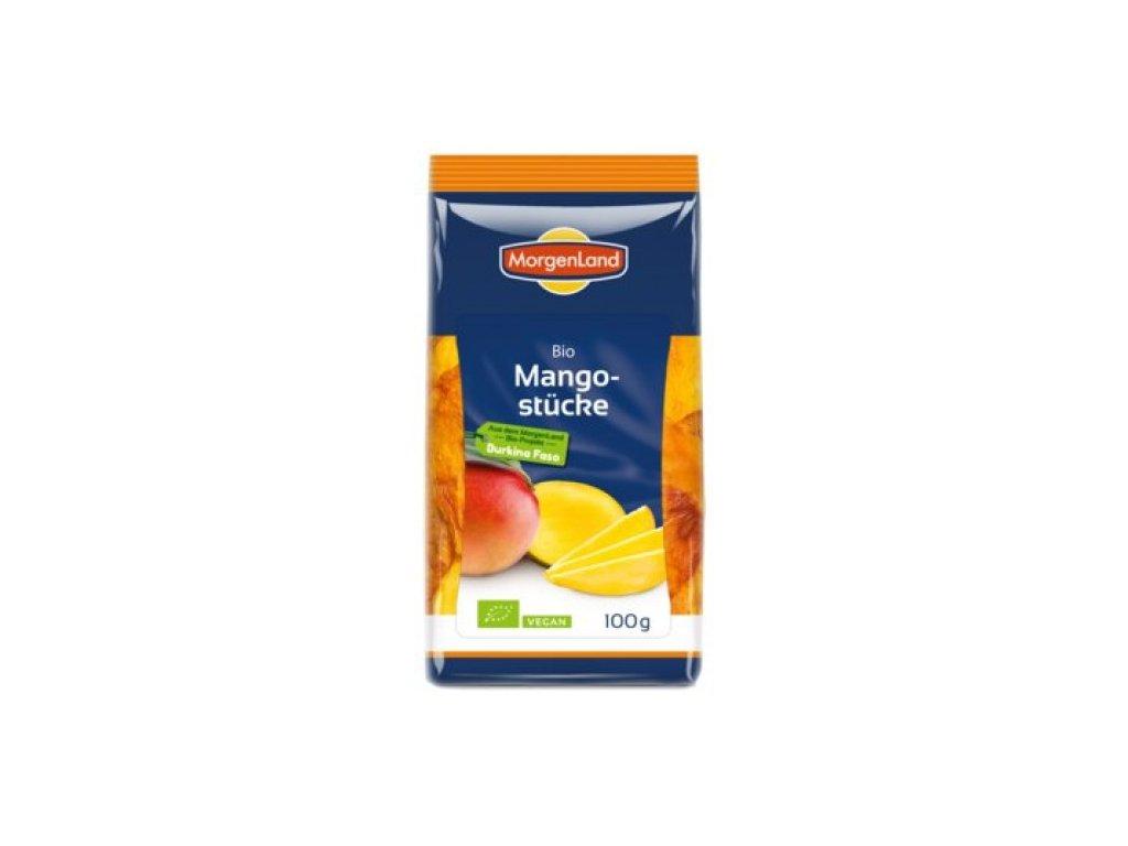 6 x Morgenland Bio Mango kousky sušené, 100g