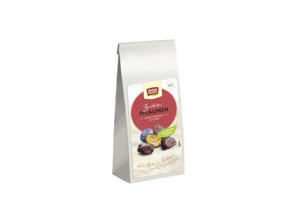 6 x Rosengarten Bio Sušené švestky v čokoládě 100g
