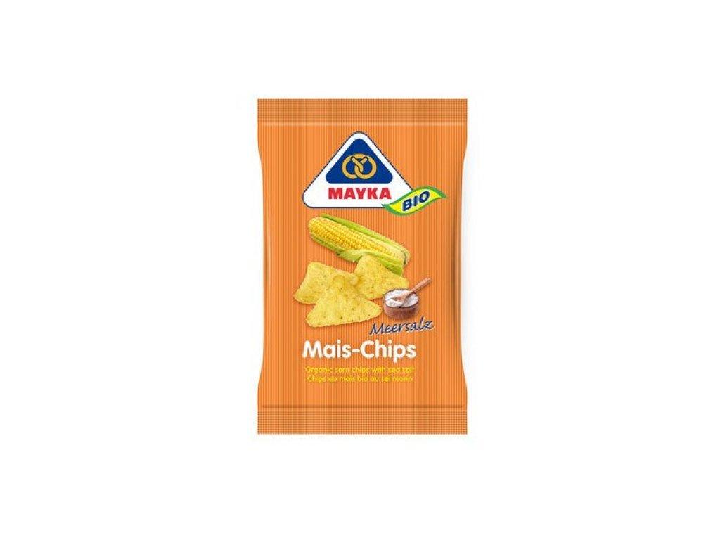 10 x Mayka Bio Kukuřičné chipsy solené, 125g