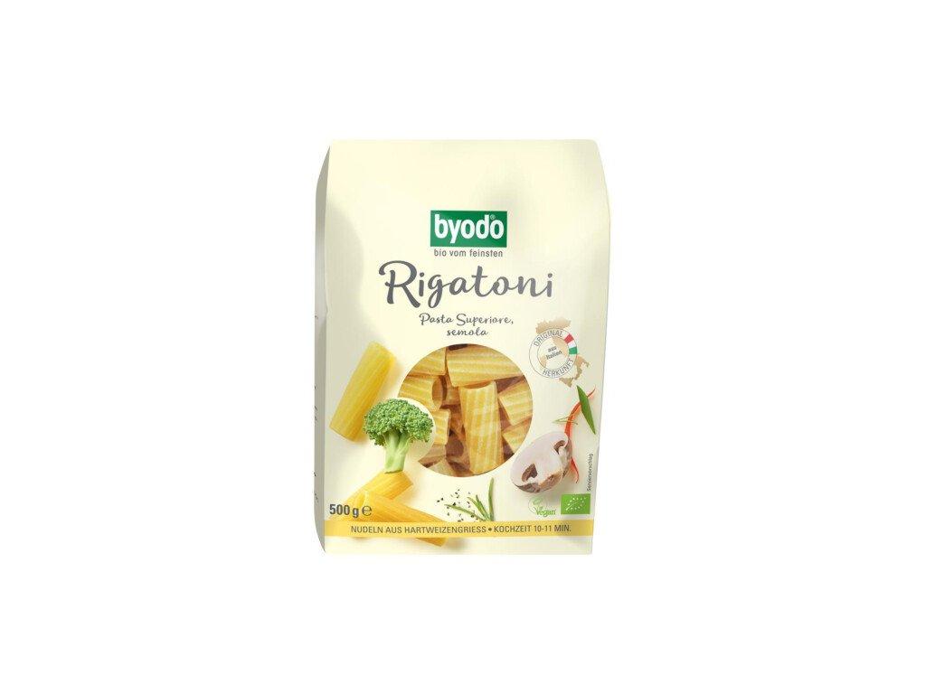 12 x Byodo Bio Rigatoni z tvrdé pšenice, 500g