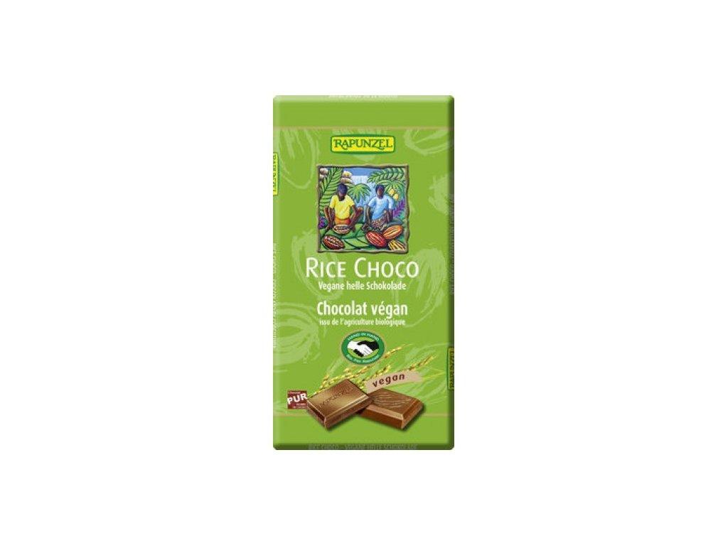 12 x Rapunzel Bio Rýžová mléčná čokoláda, 100g