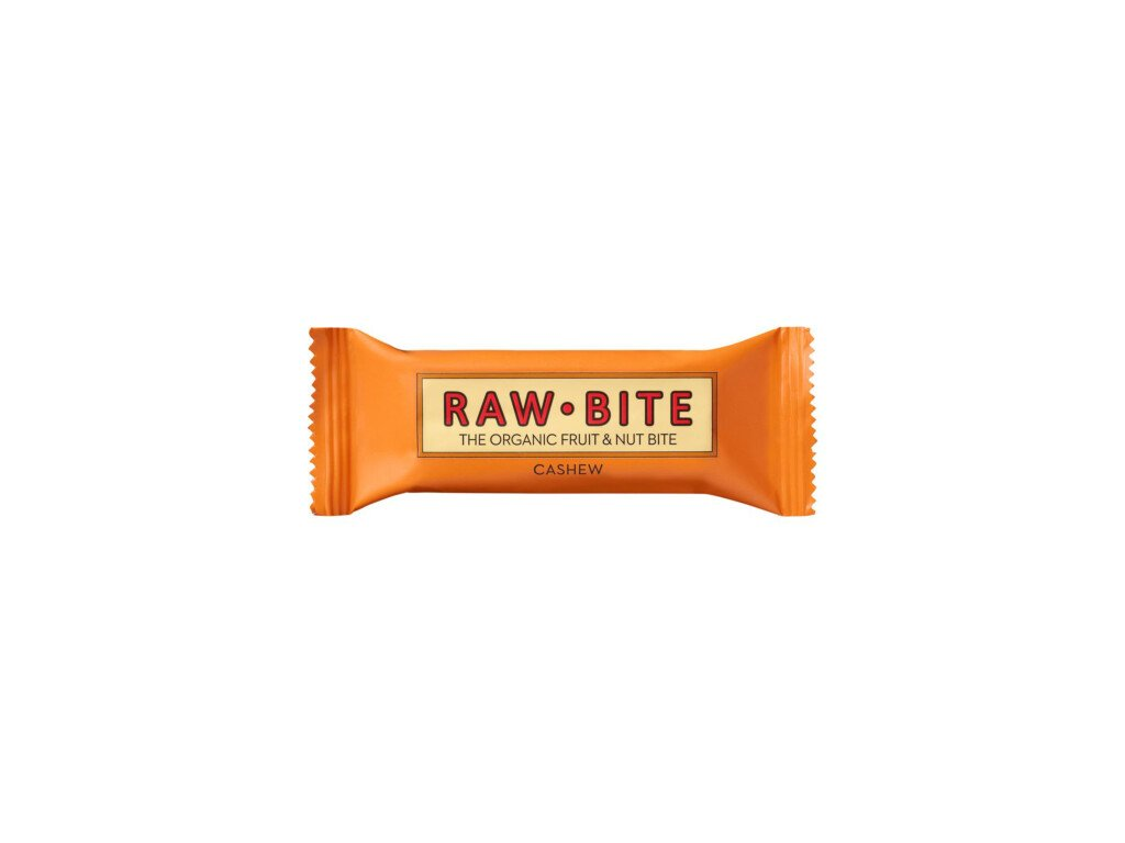 12 x Rawbite Bio Raw tyčinka s kešu, 50g