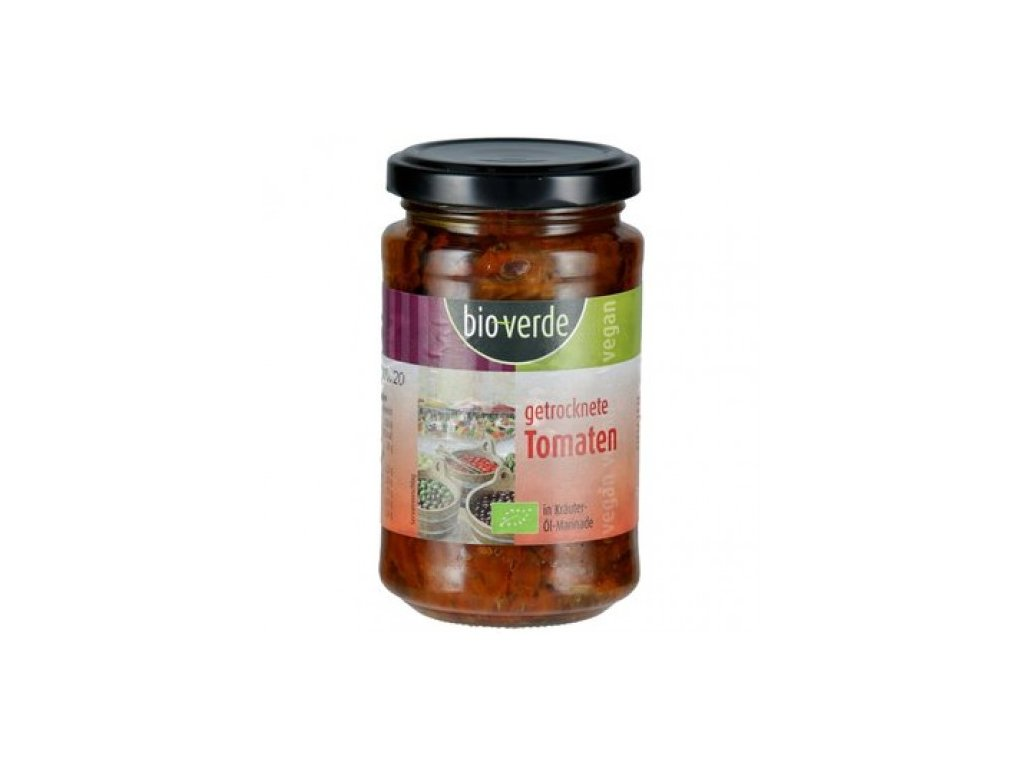 6 x BioVerde Bio Sušená rajčata v oleji, 200g